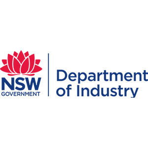NSW Department of Industry Logo | Upstairs Startups Co-working Space, Bathurst, Australia