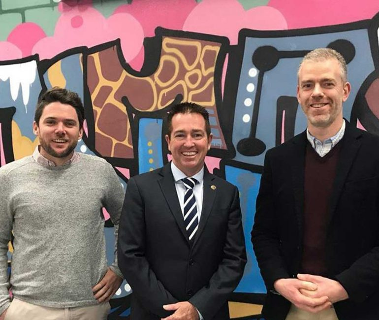 Visit from Local Member Paul Toole | Upstairs Startups Co-working Space, Bathurst, Australia